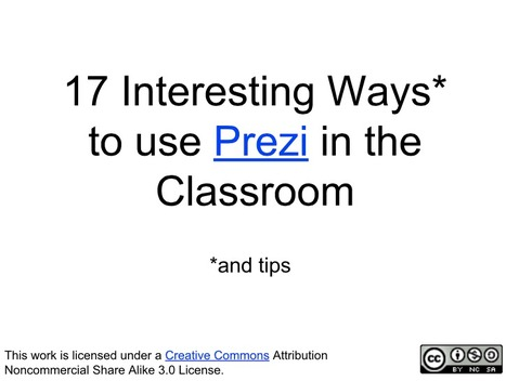 17 Interesting Ways to use Prezi in the Classroom | WEB.02 tools for creative  EFL ESL learning & teaching | Scoop.it