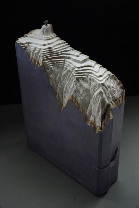 Carved Book Landscapes by Guy Laramee | Colossal | Arte y Cultura en circulación | Scoop.it
