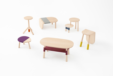 Nendo Dresses Tables For Walt Disney Japan In Colored Knits