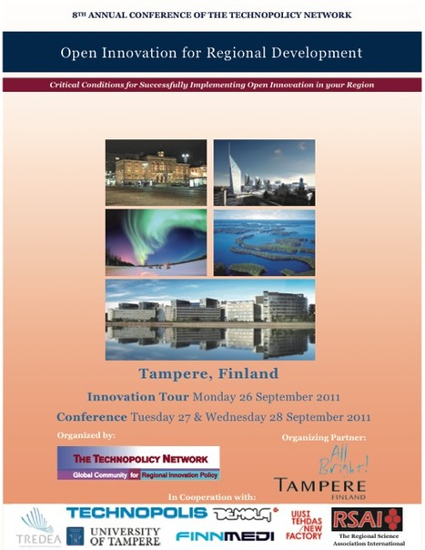 Open Innovation for Regional Development, Tampere, Finland.. Bendis to Speak - Innovation America | Finland | Scoop.it