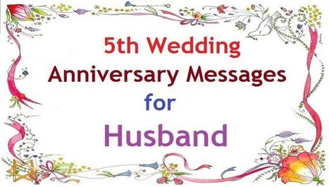 5th wedding anniversary messages for husband