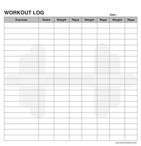 daily workout log template in printable calendar scoop it