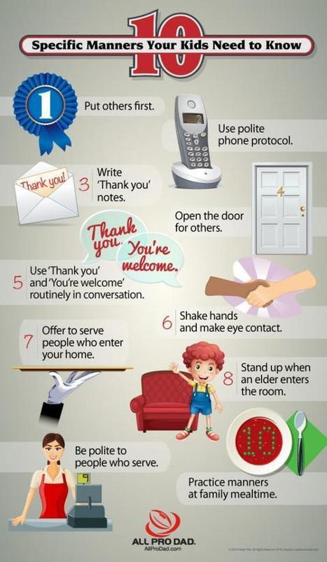 10 Manners Your Kids Need to Know (infographic) | All Pro Dad | Troy West's Radio Show Prep | Scoop.it
