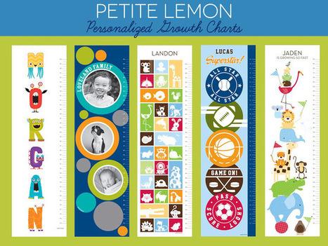 """Lines Across"": Petite Lemon Personalized Growth Charts (Plus a Giveaway) | Literacia no Jardim de Infância | Scoop.it"