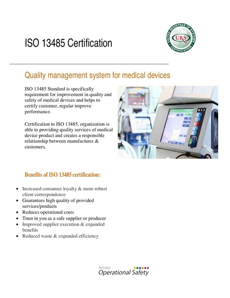 ISO 13485 Certification\' in ISO Certification by Ursindia | Scoop.it