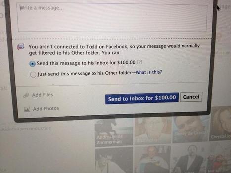Facebook teste le paiement de l'envoi de certains messages privés | {niKo[piK]} | Antisocial | Scoop.it