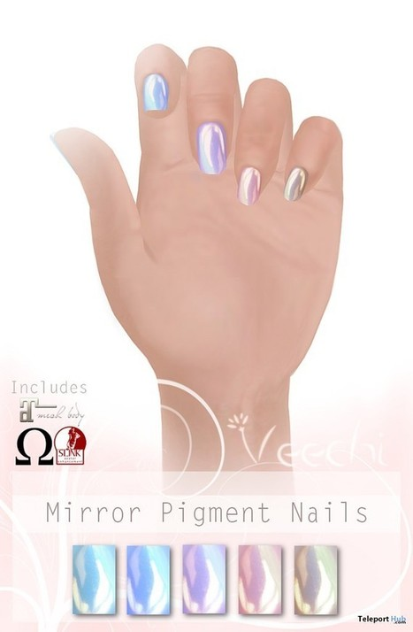 b7e51480d777 Mirror Pigment Nails Group Gift by Veechi