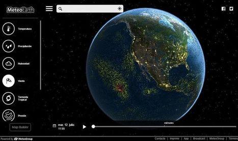 MeteoEarth: mapa interactivo 3D con información meteorológica | Nuevas Geografías | Scoop.it