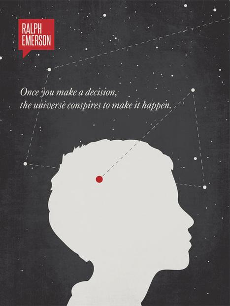 16 citations célèbres en affiches minimalistes   freehand illustration and graphic design   Scoop.it