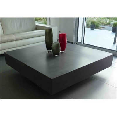 Table basse design en b ton cir - Table basse luxe design ...