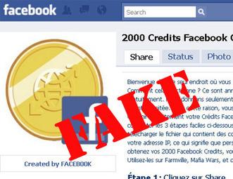 Attention, de fausses pages vous promettent des Facebook Credits | Social Media Curation par Mon Habitat Web | Scoop.it
