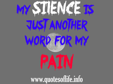 My Silence Is Just Another Word For My Pain Q