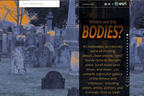 This Grave Atlas Shows Where to Find the Distinguished Deceased | Geography Education | Scoop.it