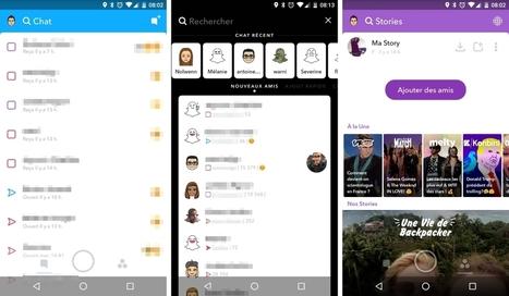 Snapchat : une barre de recherche pour retrouver ses amis plus facilement | Geeks | Scoop.it