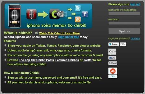 Chirbit - Social Audio | Social media kitbag | Scoop.it