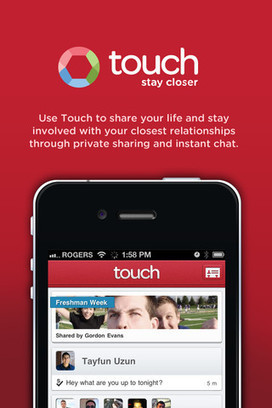 #Touch redefines how we stay in touch with close friends using #iphone chat #edtech20 #mlearning | mlearn | Scoop.it