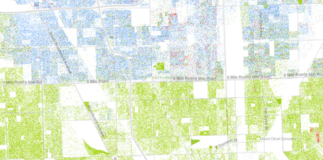 The Best Map Ever Made of America's Racial Segregation | Geolocated | Scoop.it