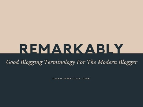 Remarkably Good Blogging Terminology For The Modern Blogger | terminology and translation | Scoop.it