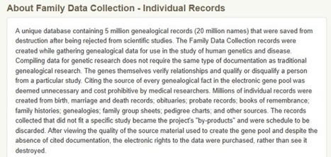 Is The Family Data Collection a Source? | The Sanford Family Misfit | Genealogy | Scoop.it