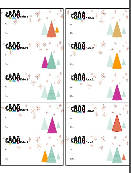 Etichette Per Regali Di Natale Da Stampare.Confezione Regalo Per Biscotti Etichette Da S