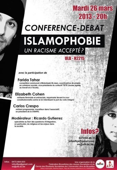 Conférence : islamophobie, un racisme accepté ? | Occupy Belgium | Scoop.it