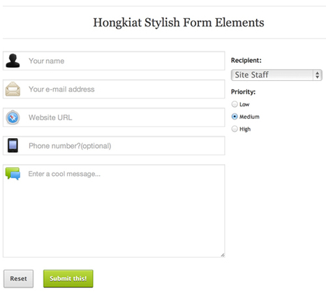 Creating Stylish Responsive Form With CSS3 and HTML5 | iBoo Veille Technologique | Scoop.it