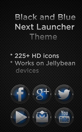Next Launcher Black Blue Theme v1.2 | ApkLife-Android Apps Games Themes | Android Applications And Games | Scoop.it