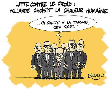 Hollande et la vague de froid... | L'actualité vue par Biassu... | LYFtv - Lyon | Scoop.it