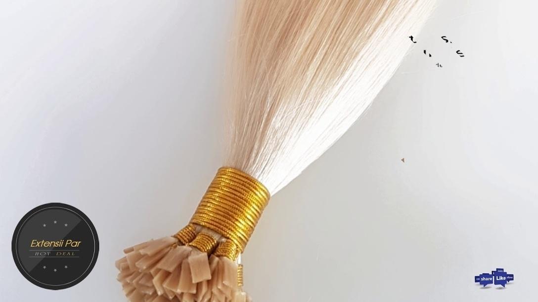 Extensii Par Natural Cheratina Premium Blond Pe