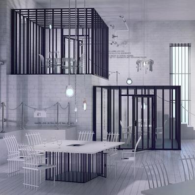 Restaurant imagined like a prison by Karina Wiciak - Dezeen | up2-21 | Scoop.it
