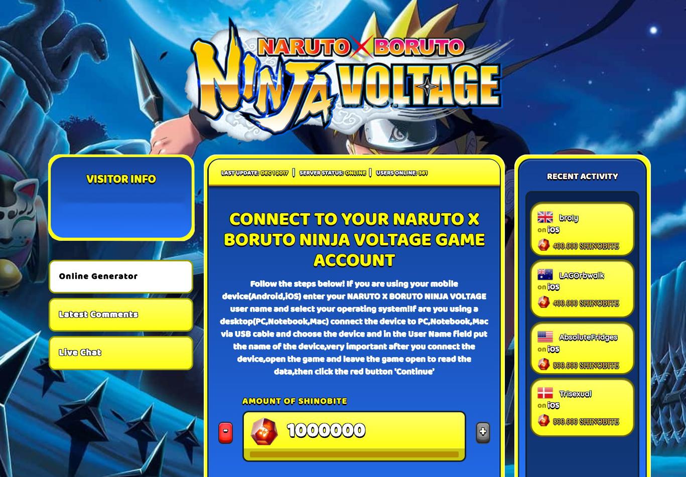 NARUTO X BORUTO NINJA VOLTAGE Hack' in BorutoXNaruto:voltage