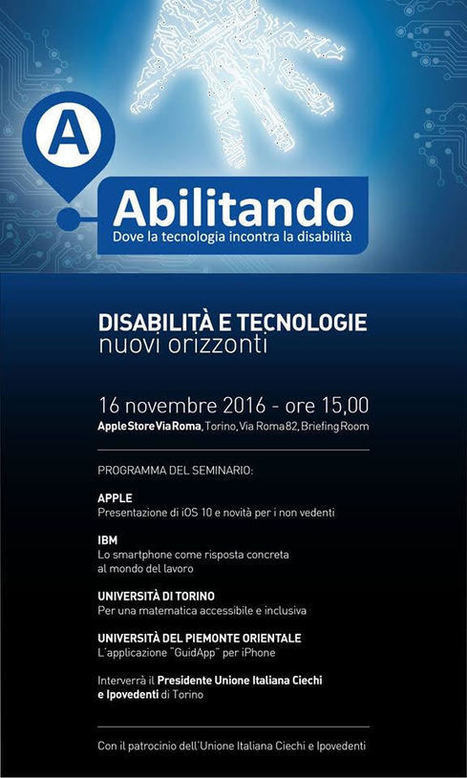 Disabilità e tecnologia: convegno il 16 novembre all'Apple Store di Torino - Macitynet.it | Teaching and Learning English through Technology | Scoop.it