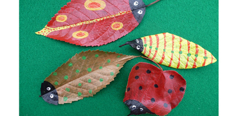 Autumn crafts for kids - how to make leaf bugs | The Miracle of Fall | Scoop.it