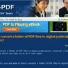 How to batch convert a folder of PDF files to digital publications by using A-PDF to Flash?