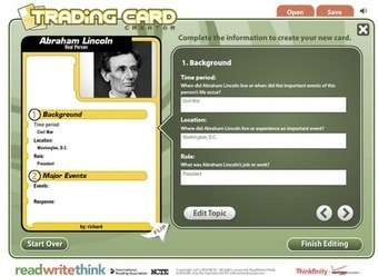 Free Technology for Teachers: Create Trading Cards for Historical and Fictional Characters - The Web Version | Websites to Share with Students in English Language Arts Classrooms | Scoop.it