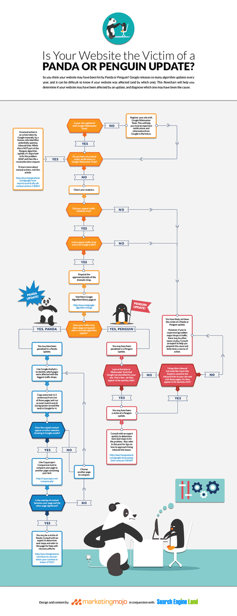 Was Your Site Hit By Google's Panda Or Penguin? This Flowchart May Help You Find Out. | Digital Brand Marketing | Scoop.it