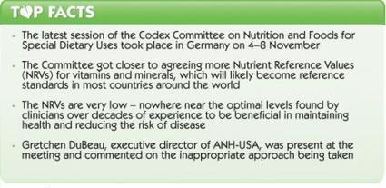 Codex Alimentarius moves closer to international vitamin harmonisation - restricting personal health choice | Health Supreme | Scoop.it