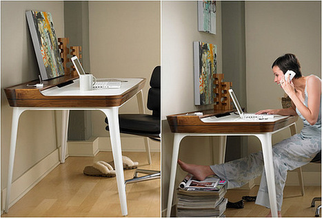 Minimalist Home Office Desk Design | 2012 Interior Design, Living Room Ideas, Home Design | Scoop.it