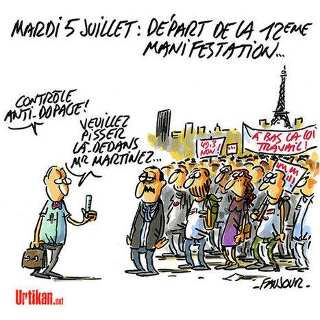 Loi Travail: Fouilles et contrôles reconduits pour la dernière manifestation de l'été | Dessinateurs de presse | Scoop.it