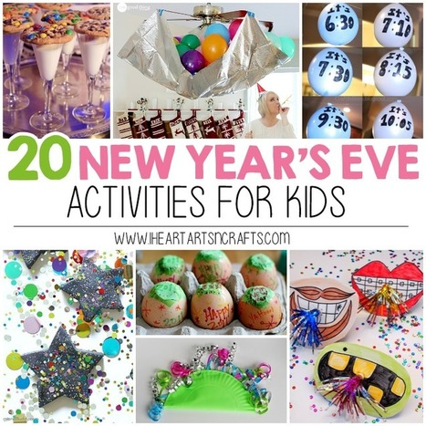 New Year's Eve Activities For Kids - I Heart Arts n Crafts | Parent Autrement à Tahiti | Scoop.it
