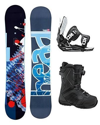 d02d8ac7c1ba Head Fusion Rocka Legacy Complete Snowboard Package with Flow Bindings and  Flow Vega BOA Boots - Board size 159 WIDE - Boot Size 11