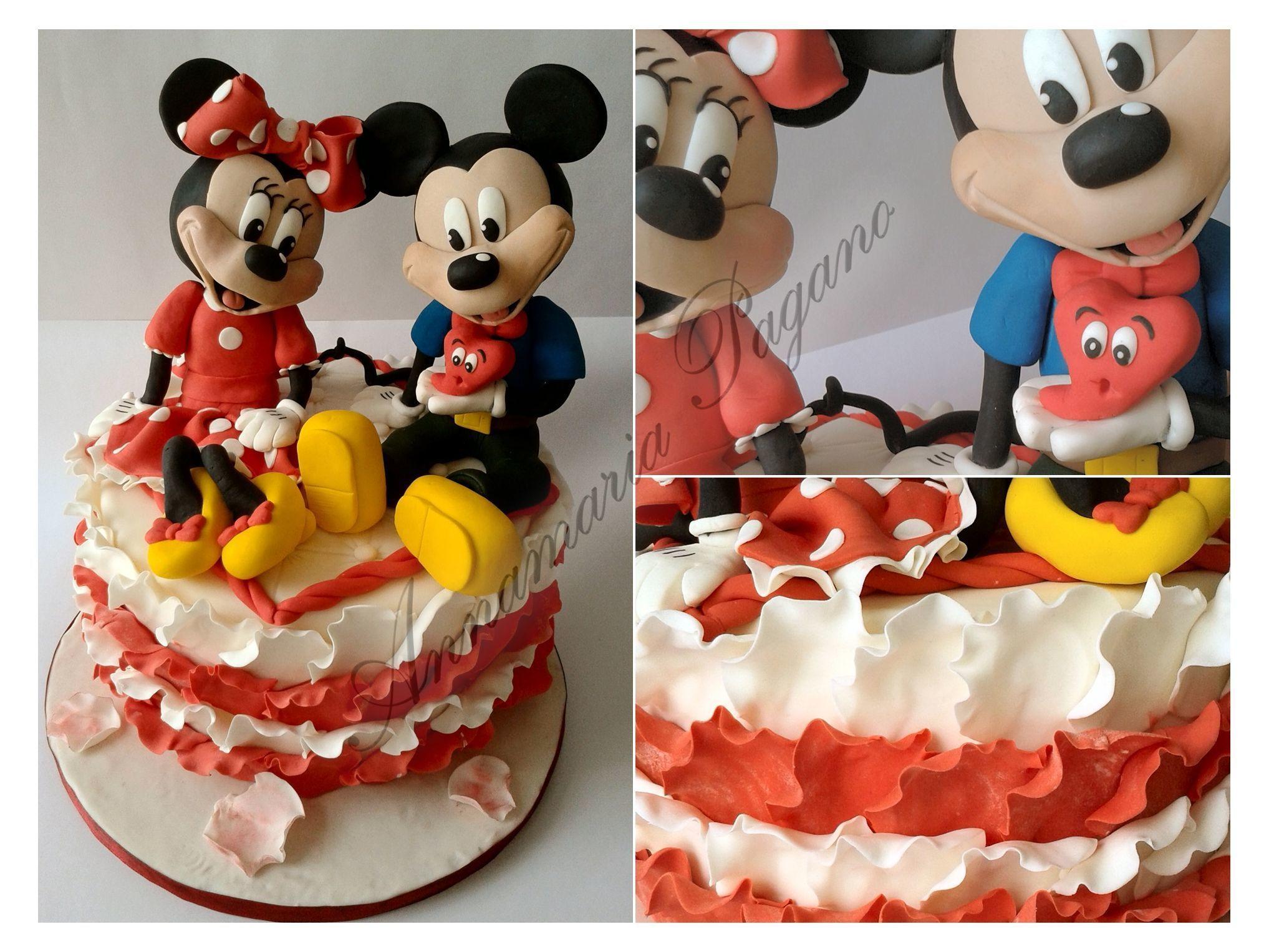 Topolino Dona Il Suo Cuore A Minnie Cake Des