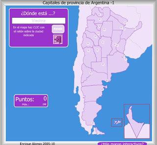Capitales de provincia de Argentina 1  Mapa