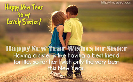 lovely new year wishes for sister messa