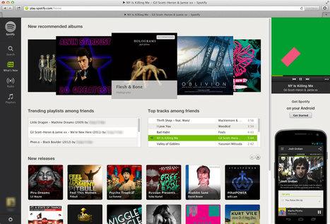 Spotify dans votre navigateur - Zikinf | Musique et Innovation | Scoop.it