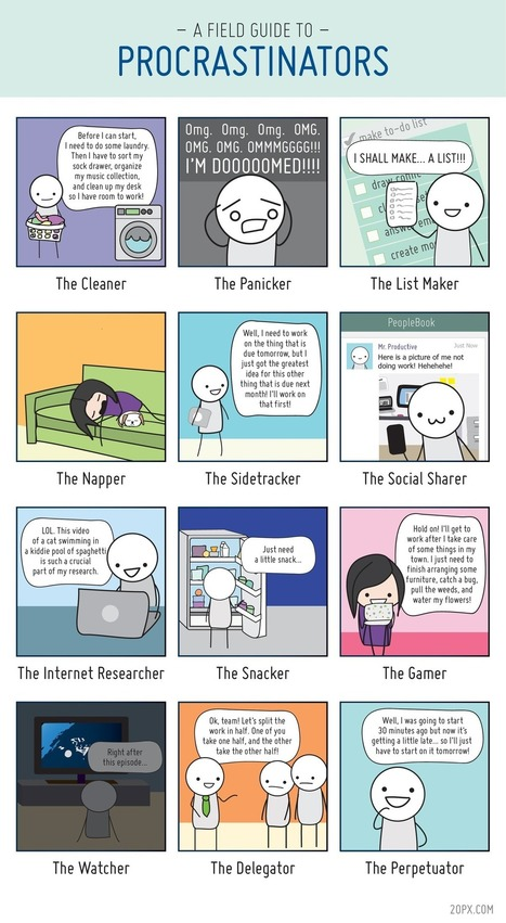 The 12 Types of Procrastinators [COMIC] | Writing and Other Crazy Stuff | Scoop.it