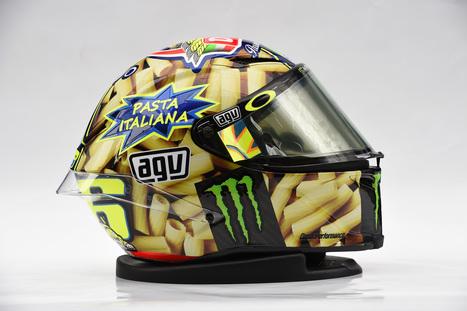 Rossi 300 Starts Never Overcook The Pasta Helmet | Ductalk Ducati News | Scoop.it