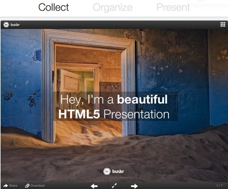 Goodbye PowerPoint! Bunkr is going beyond presentation : Collect, Organize, Present   Better teaching, more learning   Scoop.it