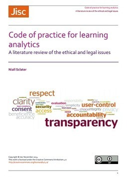 Jisc releases report on ethical and legal challenges of learning analytics | Analyse This | Scoop.it