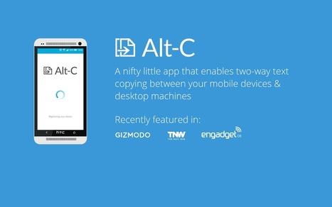 Alt-c : pour copier/coller du PC à votre Androphone   François MAGNAN  Formateur Consultant   Scoop.it